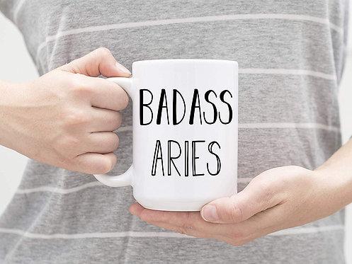 Badass Aries - Zodiac 15 oz Coffee Mug