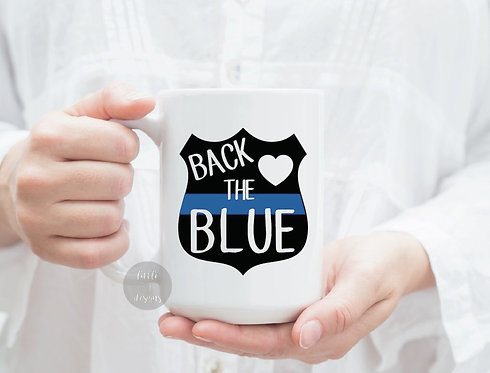 Back The Blue Police Officer 15 oz Coffee Mug