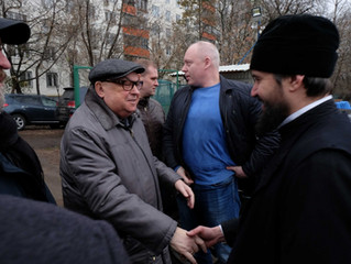 Подворье посетил Владимир Ресин, советник Патриарха по строительству