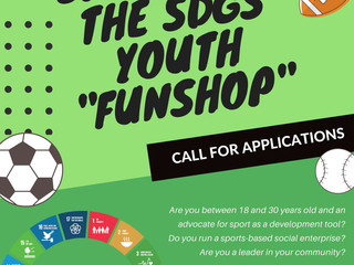 Call for Applications: Sport and the SDGs Youth Funshop!