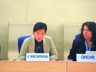 TF Member Jen Macapagal attends the Human Rights Council Social Forum in Geneva