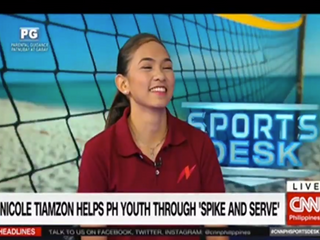 Volleyball Star, Nicole Tiamzon, promotes the Task Force on CNN Philippines