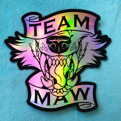 Team Maw Holographic Sticker