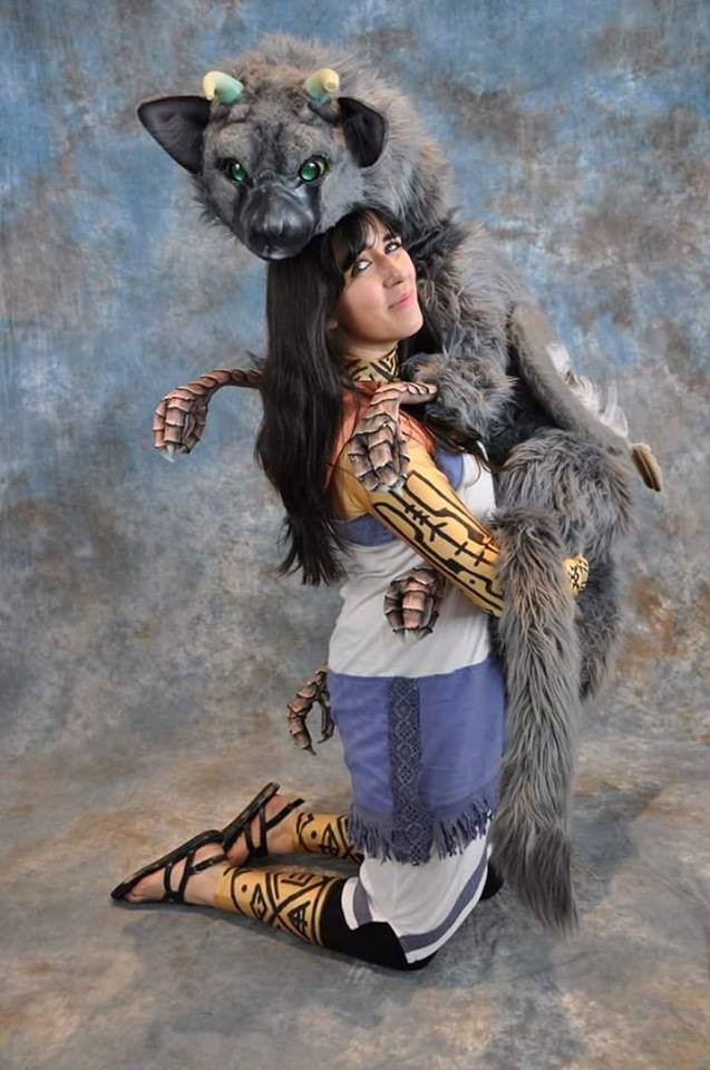 Trico Puppet and Body Suit, An Actual Ferret Cosplay