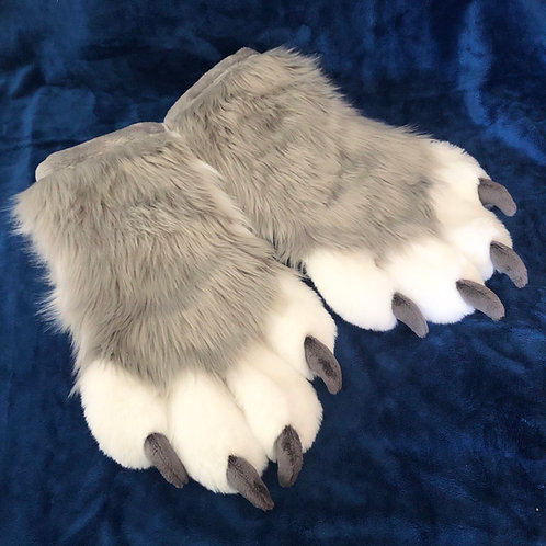 Grey and White Hand Paws