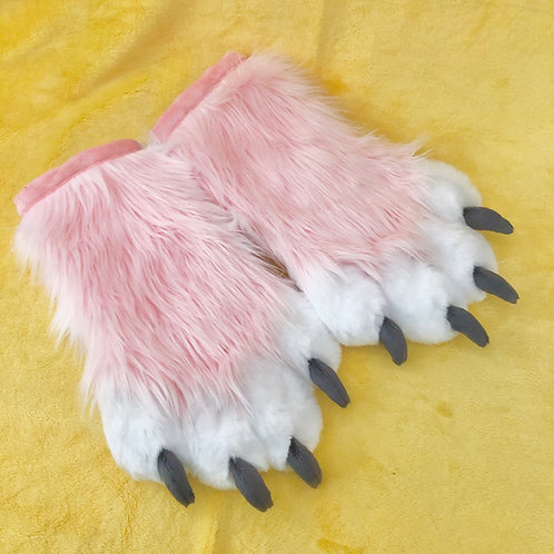 Light Pink and White Hand Paws