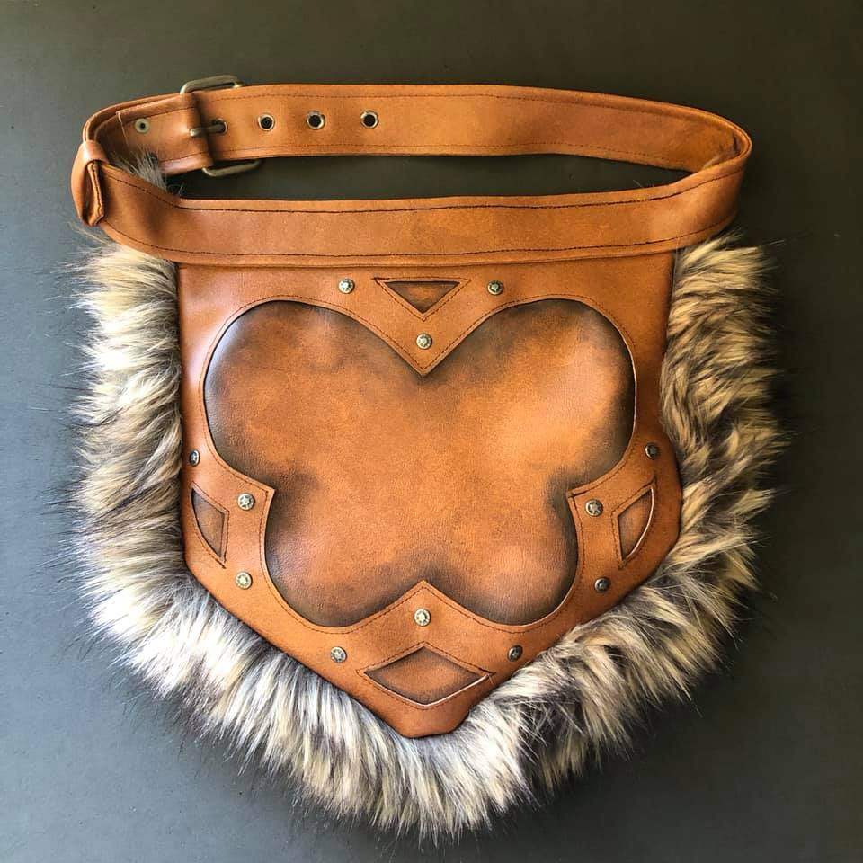 Pleather Viking Belt and Pouch