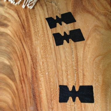 Monkeypod Table w-Ebony Ties.JPG