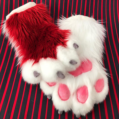 Red and White Hand Paws