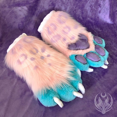 Pink Leopard Hand Paws