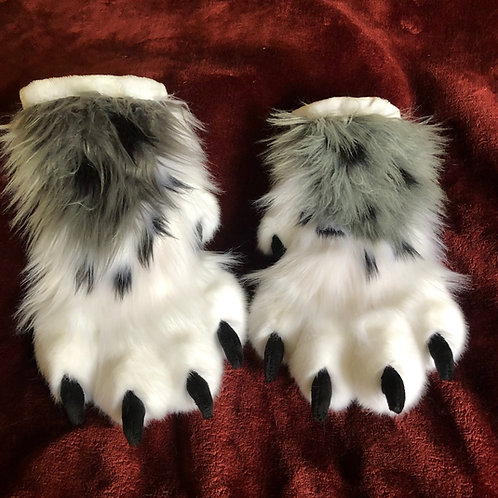 Snow Leopard Paw and Tail Set