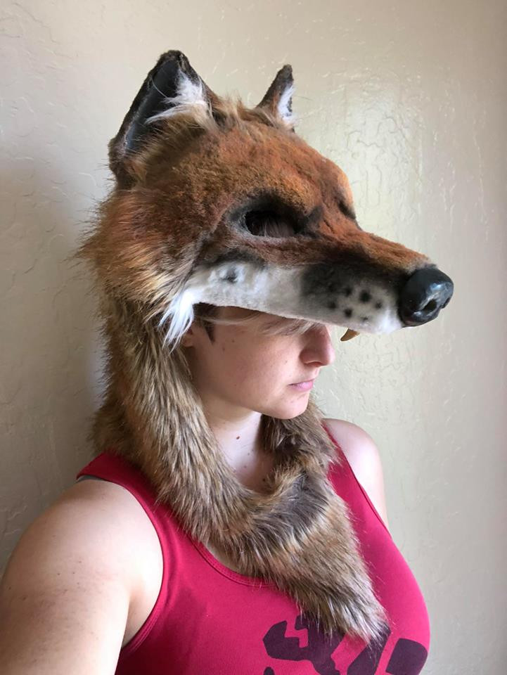 Faux Fur Fox Hood