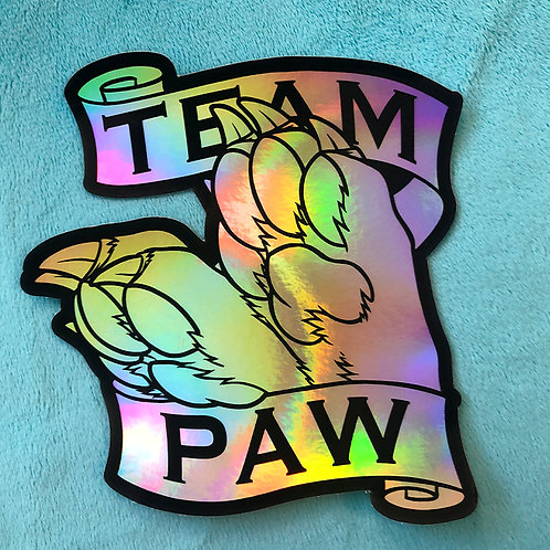 Team Paw Holographic Sticker
