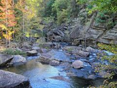 Beautiful mountain rivers