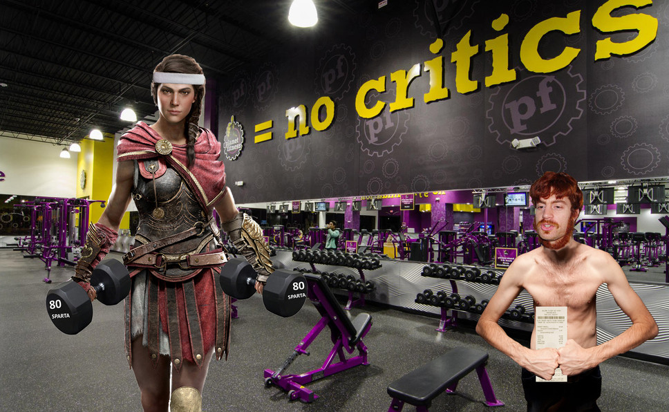 Threatened by Kassandra's Incredible Biceps, Gamers Return Assassin's Creed Odyssey in Drove