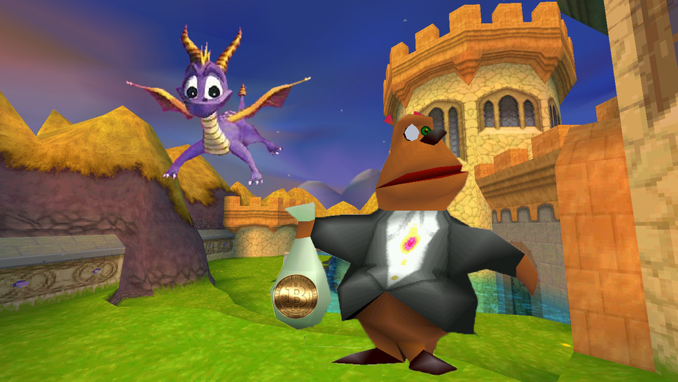 Spyro is Back, but the Bear Who Used to Exchange Favors for Gems Now Only Accepts Bitcoin