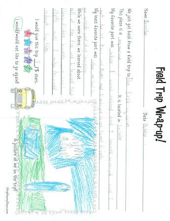 student field trip letter