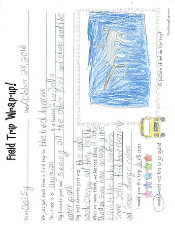 student field trip thank you letter