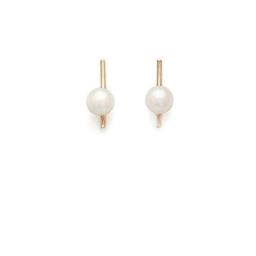 no.1 petit 14K gold Pearl earrings