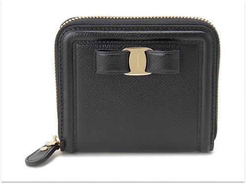 Salvatore Ferragamo サルヴァトーレ フェラガモ  二つ折り財布 22-D156 リボン レディース 財布