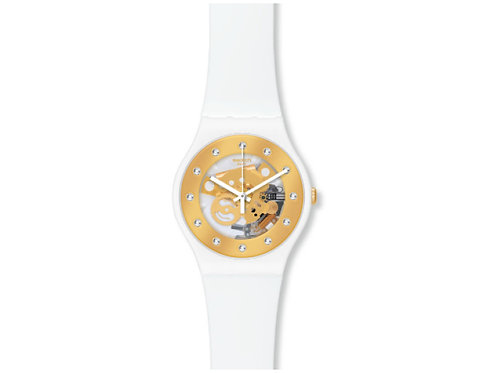 Swatch スウォッチ 腕時計 SUOZ148 LACQUERED ラッカード SUN