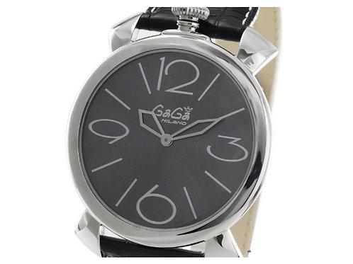 ガガミラノ マヌアーレ シン46MM リザードレザー 腕時計 ユニセックス GaGa MILANO 5090.03