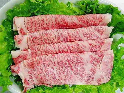 【お肉を食べよう】黒毛和牛A5霜降特撰リブロースすき焼き用 450g