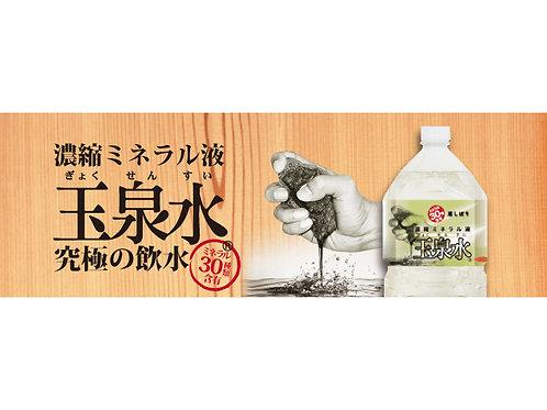<濃縮ミネラル天然水>玉泉水 2L(約66日分)