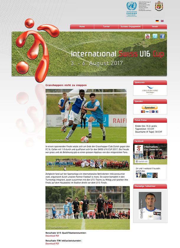 Publikation U16 Cup Ruggell 2017