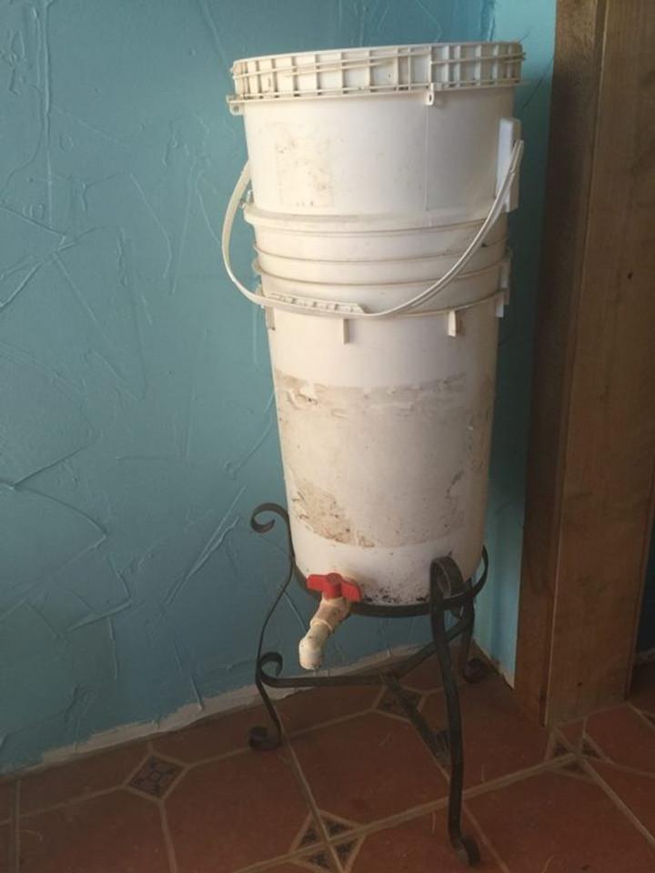 finished bucket bin