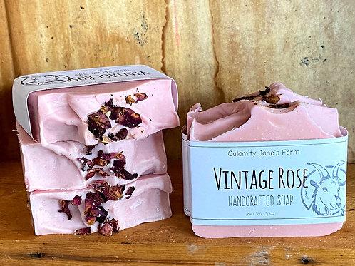Vintage Rose Soap with Goats Milk