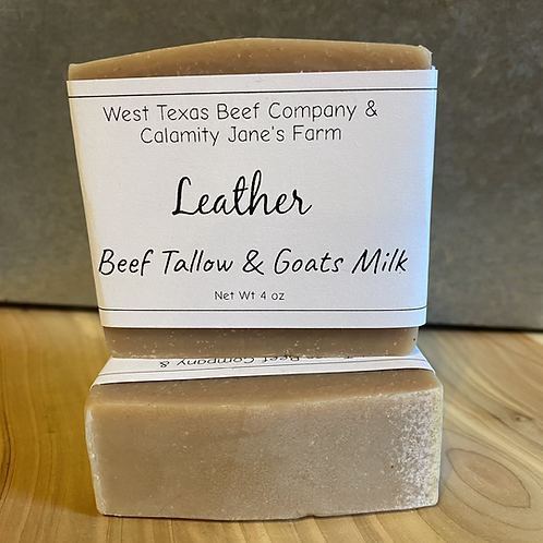 Leather Soap with Tallow and Goats Milk