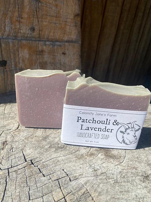 Patchouli & Lavender Soap with Goats Milk