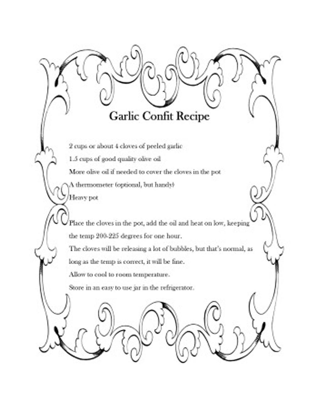 Garlic Confict Recipe