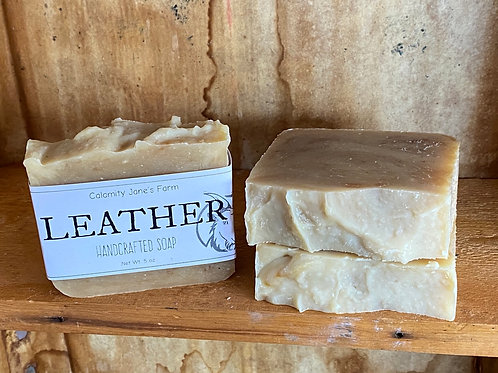 Leather Soap with Goats Milk