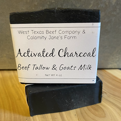 Activated Charcoal Beef Tallow & Goats Milk Soap