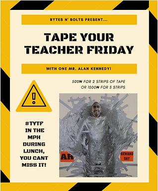 Tape Your Teacher Fundraiser