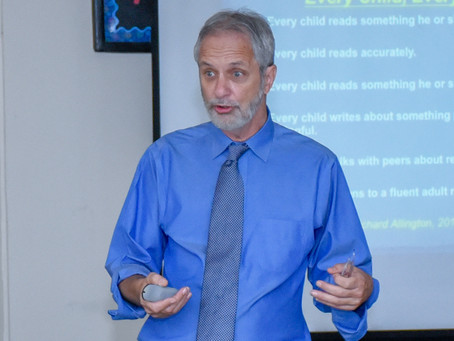 Literacy Consultant Dan Feigelson at AISA