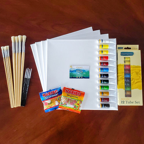 Paint at Home Kits - 30x30cm Stretched Canvas