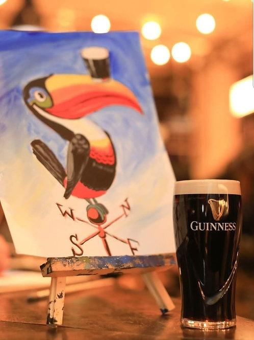 Paint x Pints Guinness Art Pack (1 Painter)