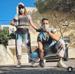 סטטיק וארוסתו לובשים רז אלנתן