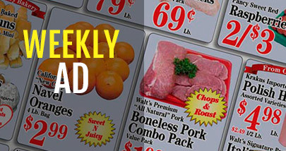 Weekly Ad Specials to Resume June 30th