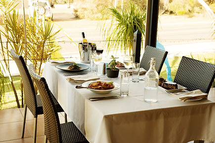 Edge Resort Dinner on the al Fresco area
