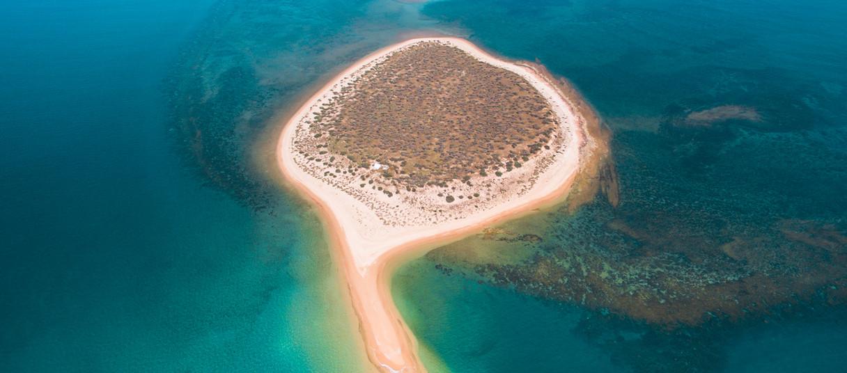 mackerel islands direction island aerial