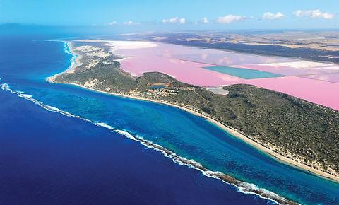 Famous Hutt Lagoon Pink Lake