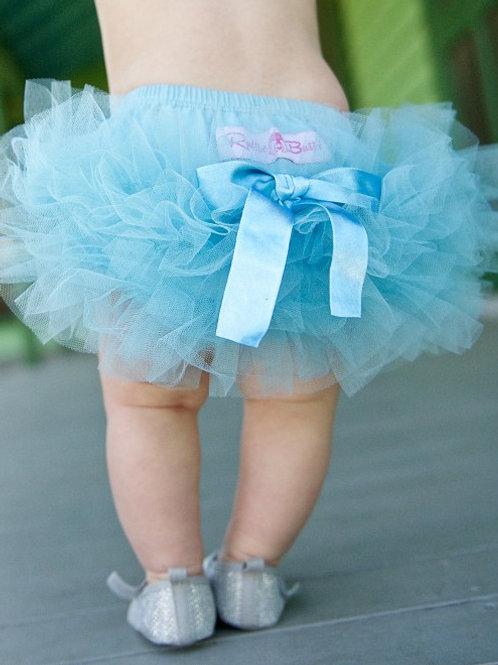 Sky Blue Frilly Knit RuffleButt