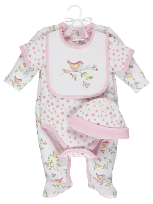 Bird Layette -4 piece set