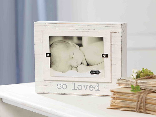 'So Loved' Wood Block Frame