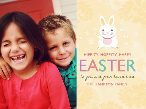 Hippity Bunny 4 Pack Easter Cards