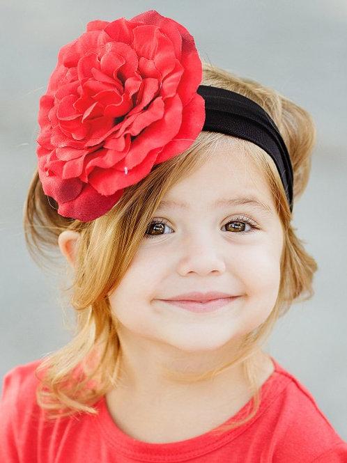 Red Audrey Headband